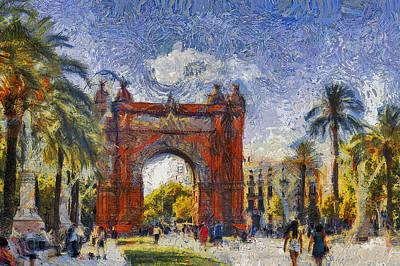 Barcelona Gogh Poster
