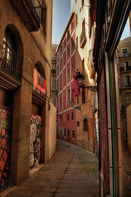 Poster featuring the photograph Barcelona - Gothic Quarter 003 by Lance Vaughn