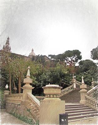 Barcelona, Magic Poster by Joaquin Abella