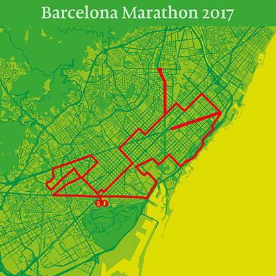 Barcelona Marathon #2 Poster