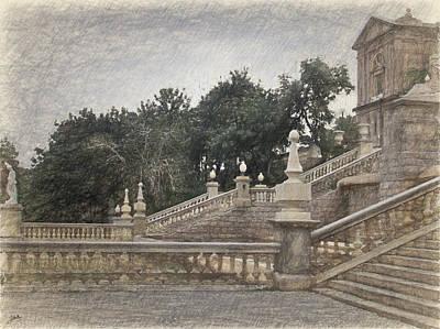 Barcelona, Montjuic Park Poster by Joaquin Abella