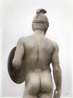 Barcelona - Sculpture Of The God Mars. Poster by Joaquin Abella