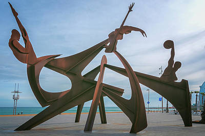 Barceloneta Olympic Sculpture Poster by Joan Carroll