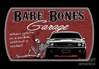 Bare Bones Garage Challenger Poster
