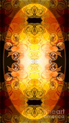 Barely Contained Excitement Abstract Organic Bliss Art By Omaste Poster