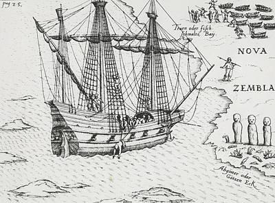 Barents' Ship At Nova Zembla Poster