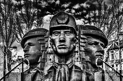 Bargoed Miners Sculpture Poster