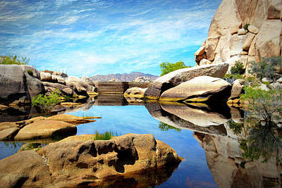 Poster featuring the photograph Barker Dam - Joshua Tree National Park by Glenn McCarthy Art and Photography