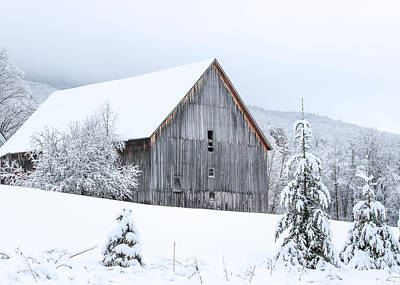 Barn After Snow Poster