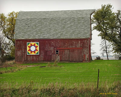 Barn And Barn Quilt Poster by Kathy M Krause