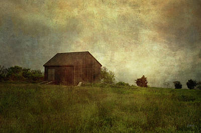 Barn And Meadow Poster by Dave Gordon