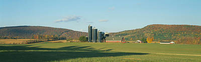 Barn And Silos, Dutchess County, New Poster by Panoramic Images