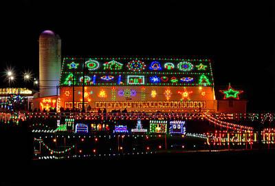 Barn At Koziars Christmas Village Poster