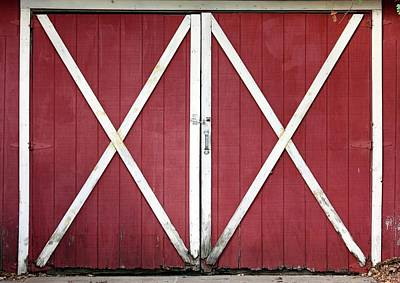 Poster featuring the photograph Red Barn Doors by Sheila Brown