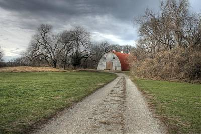 Barn Faust Park Missouri Poster by Jane Linders