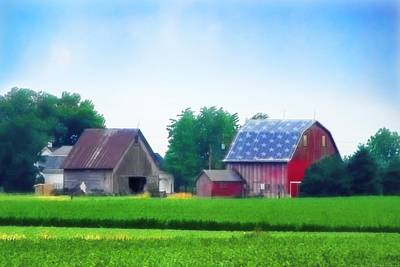 Barn In The U.s.a Poster by Chrystyne Novack