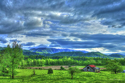 Barn On A Hill Great Smoky Mountains Poster
