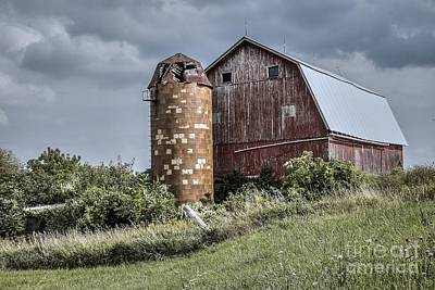 Barn On Hill Poster