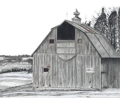Barn On Hillside Poster by Bryan Baumeister