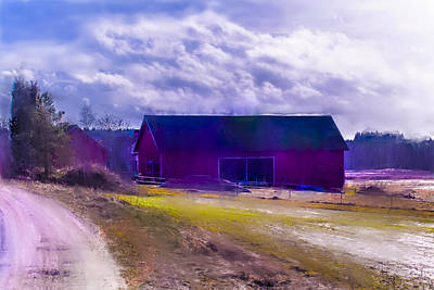 Barn Painterly Poster by Leif Sohlman