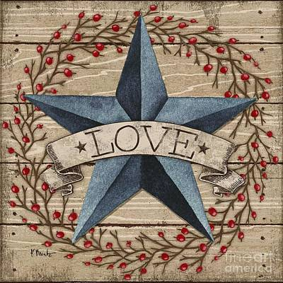 Barn Star With Berries II Poster