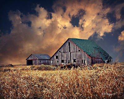 Barn Surrounded With Beauty Poster