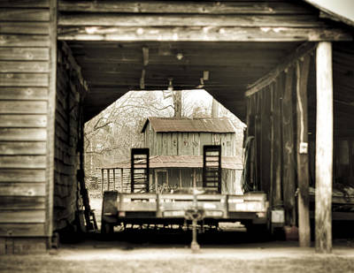 Barn Through A Barn Poster by Andrew Crispi