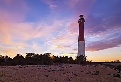 Barnegat Bay Light Sunset Poster by Susan Candelario