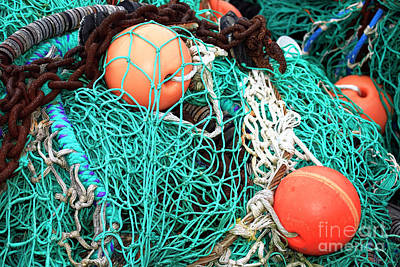 Poster featuring the photograph Barnegat Fishing Nets by John Rizzuto