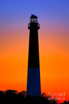 Barnegat Light At Dusk  Poster
