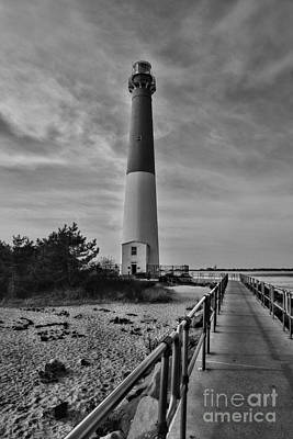Barnegat Light House In Black And White Poster by Paul Ward
