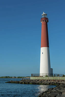 Barnegat Lighthouse And Inlet New Jersey Poster by Terry DeLuco