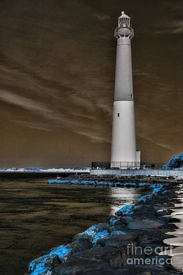 Barnegat Lighthouse In Infared Poster by Paul Ward