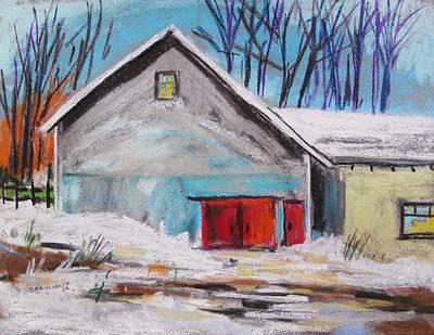 Barnyard In Winter Poster