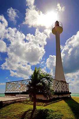 Poster featuring the photograph Baron Bliss Lighthouse - Fort George, Belize - Caribbean by Jason Politte
