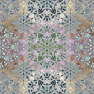 Baroque Multi Colored Mandala Poster by SharaLee Art