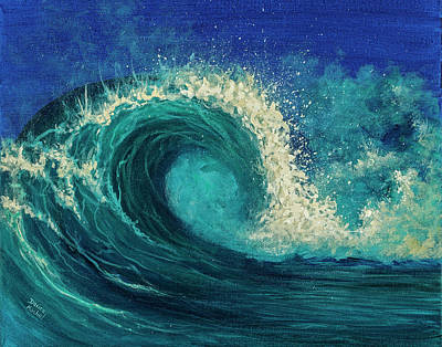 Poster featuring the painting Barrel Wave by Darice Machel McGuire