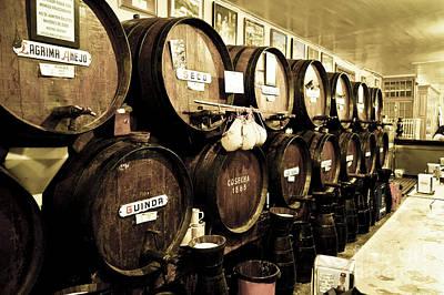 Barrels At Old Tavern Antigua Casa De Guardia Poster