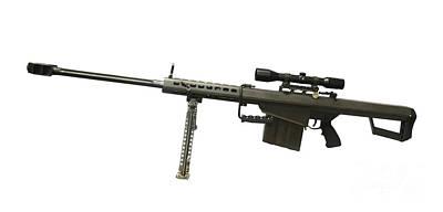 Barrett L82a1 Anti-materiel Rifle Poster by Andrew Chittock