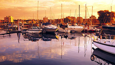 Barrie Marina Sunrise Poster