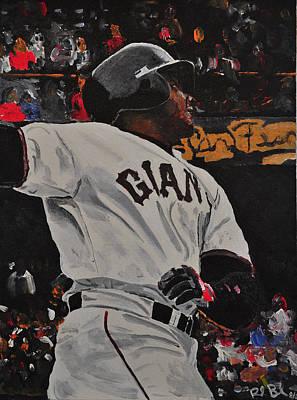 Barry Bonds Record Home Run  Poster