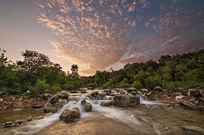 Barton Creek Greenbelt At Sunset Poster by Todd Aaron