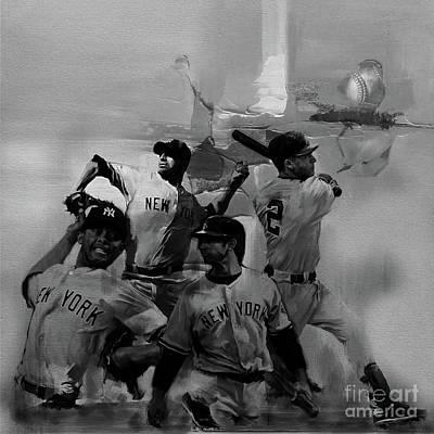 Base Ball Players Poster