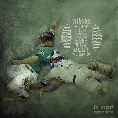 Baseball 01 Poster by Gull G