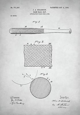 Baseball Bat Patent Poster by Taylan Apukovska