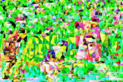 Baseball Batter Sluuger In Abstract Cubism 20170329 Poster