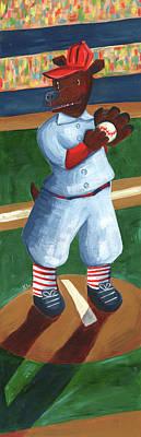 Baseball Bear Poster
