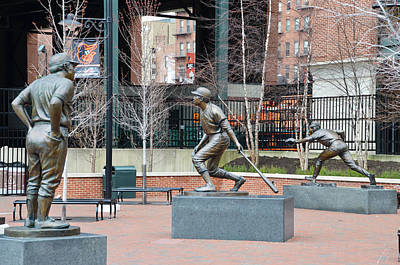 Baseball Statues At Camden Yards - Baltimore Maryland Poster by Bill Cannon