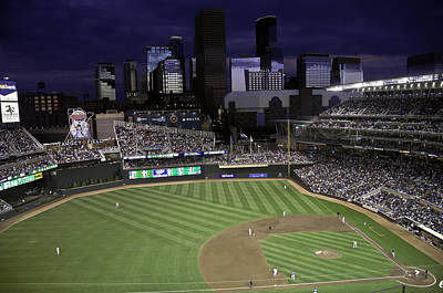 Baseball Target Field  Poster by Paul Plaine