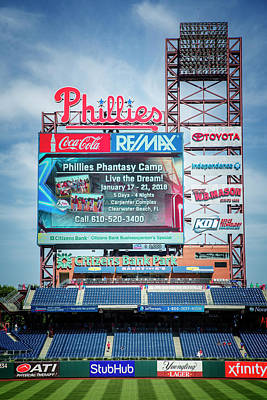 Baseball Time In Philly Poster